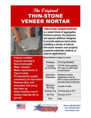 Thin-Stone Veneer Mortar